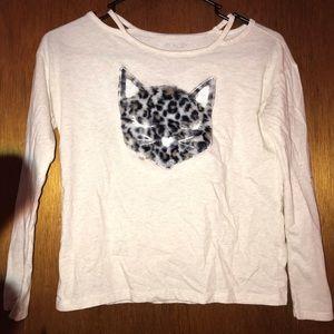 Children's cat long sleeve shirt